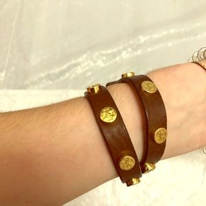 Tory Burch double wrap brown bracelet